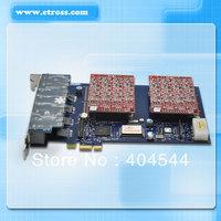 AEX800P 8 Ports FXO &FXS asterisk PCI-E card for voip ippbx ip pbx call center trixbox elastix