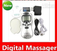 10pcs/lot free-shipping full English Health herald Tens Acupuncture Digital Therapy Machine Massager Slimming machine