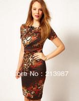 Free shipping! KM 2012 autumn and winter ruffle slim fashion corrugated edge designer dresses dp253