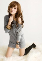 New autumn sexy fashion sweater grey free size  free  shipping   LMS888