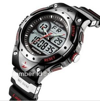 High Quality Top Brand PASNEW 100m Waterproof Watch,Dual Time Children Boys Girls Sport Digital Watches
