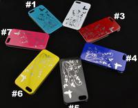 7 Colour Design Skin Hard Case Cover For i Phone 5 5G 5th 100pcs/lot
