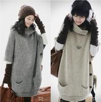Best Selling!!New Winter fashion women's cardigan sweater turtleneck ladies knitwear sweater+free shipping