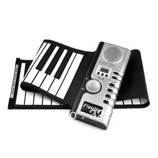 Free shipping 61 Keys  MIDI Digital Roll-Up Soft keyboard piano Flexible Electronic Organ For Kid's Gift #DS05