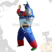 The Halloween adult cosplay avenger costume inflatable Superman dress hero costume