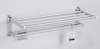 space aluminum towel shelf/ bathroom accessories set/ bathroom towel rack,wall shelving