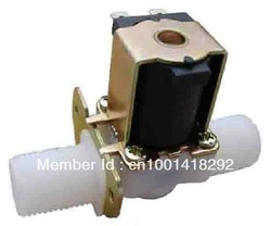 "3/4""BSPP 2Way Nylon Plastic Solar Solenoid Valve water valve 12VDC Normally Open Water Air Gas(China (Mainland))"
