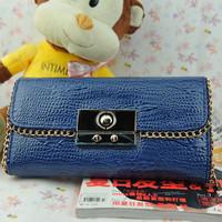 Голова крокодила узор ladys бумажник pu мешок руки, моды сумочку, клатч, кошелек 4 цвета