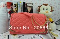 Free shipping 2012 elegant plaid design shoulder bag chain shoulder bag 4 colors available messenger handbags