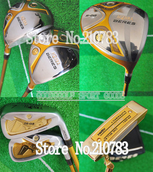2013 New HONMA Beres S-02 3wood+9irons+Putter(no bag) Graphite/shaft Golf Clubs Sets FREE SHIPPING