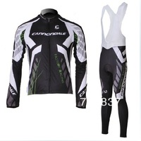 free shipping!2012 long sleeve cycling jersey + bib pants set/bicycle wear/sports wear/bike jersey/long cycle clothes