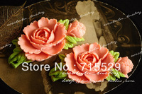 Free shipping 71*38mm Colorful Resin Flower for Jewelry/Mobile phone DIY Accessorry 50pcs/lot