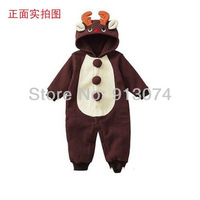 retail !2012 new autumn baby romper cartoon animal romper baby winter romper baby clothes set gift jumpsuit