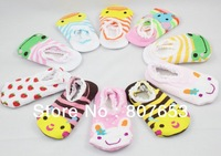 freeshipping Cute Unisex Baby Kids Toddler Girl Boy Anti-Slip short Socks Shoes Slipper 6-24 Months baby wear baby socks 10pairs