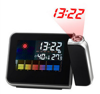 rotating projection electronic luminous background light color weather forecast clock
