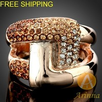 Arinna jewelry Free Shipping Korean Gold plated Ring Fashion Jewelry Ring low price J0911