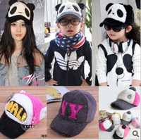 kids prevent cold warm cap hats  character pattern visors