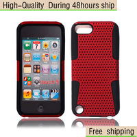 New Net Mesh Hybrid Silicone Combo Case Cover For Apple iPod Touch 5 5th Gen Free Shipping UPS DHL CPAM HKPAM SDJ-8