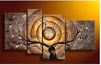Картина hand made 3 panel canvas art modern abstract oil painting, home decoration pictures on the wall oil painting on canvas