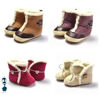 Wholesale hot sale cute design baby boots shoes winter infant shoes anti skid warm footwear 36pairs/lot high quality KWB002