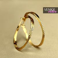 Fashion fashion gold big hoop earrings earring fashion accessories female