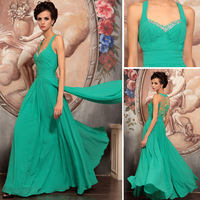 Free Shipping DORISQUEEN  2013 new arrival stretch velvet green formal dress 30748