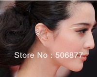 Christmas Gifts Drop Shipping wholesale Cool New 50pcs/lot Gold Silver Snake Punk Gothic Stud Earrings,Goth Ear Cuff