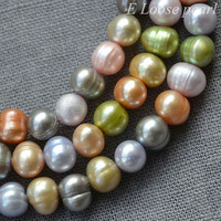 Freshwater Pearl Round Potato pearl Multi Color Loose Pearl 6.0 - 6.5mm 70pcs Full Strand Item No : PL2114