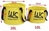 Free shipping(30piece)20L Ultralight Outdoor large capacity PVC mesh folder folding bucket  portable bucket fishing bucket