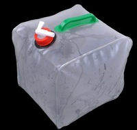 Free shipping(30piece)8 L PVC Camping portable water bag folding bucket car bucket PVC