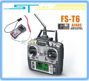 2012 FS FlySky FS-T6 T6 2.4g Digital Proportional 6 Channel Transmitter and Receiver System W/ LED Screen low shipping fee