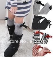 wholesale children  baby  girl's cotton stockings& bowknot  media corta leggings socks C120501 free shipping