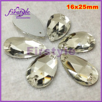 3642 square sew on rhinestones clear color 22x22mm sew on crystal glass stones with sliver foiled back for dress sew crystal