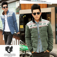 Men's clothing 2012 fashionable casual cotton-padded jacket stand collar coat slim thermal male wadded jacket