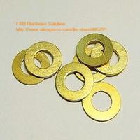 1000pcs/lot M6 6*12*0.8 Brass flat washer