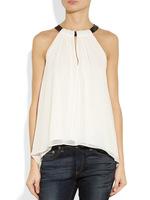 2014 White Camis Halter Chiffon Blouses Women Resort Wear Casual Shirts Sexy Spaghetti Tees Tank Tops blusas femininas camisas