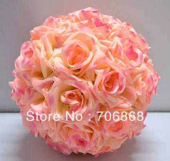 12'' Bridal Bouquet Wedding Flower Girl Pomander Kissing Ball Church Decoration