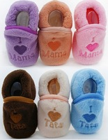 I Love Mama infant shoe indoor sock, baby first walkers warm shoes, baby shoe