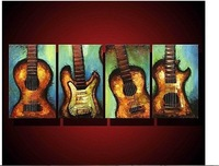 100% Genuine Hand Painted Oil Painting --- Guitar