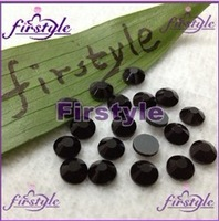 BLING BLACK JET COLOR DMC Flat Back Hot Fix Crystal Rhinestones