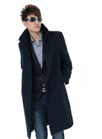 Free shipping NEW fashion Men's wool cashmere long coats trench coat thickening outerwear winter warm clothes