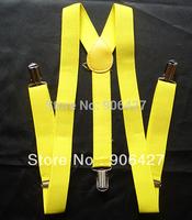 Yellow Beautiful 1PC Unisex Clip-on Braces Elastic Suspenders
