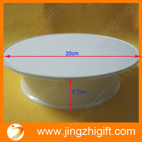 free shipping rotating advertising base for phote frame or small tools or hat with white color