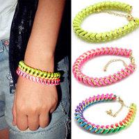 (Min order USD$15!) Accessories sweet neon line spirally-wound metal bracelet b1-091