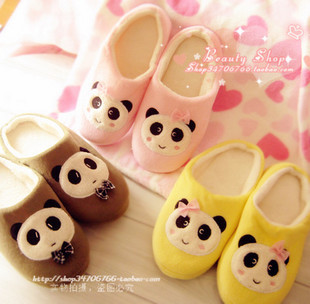 Cartoon super soft derlook plush package with slip-resistant lovers slippers floor slippers