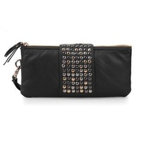 Ladies handbag rivet clutch bag 2012 long design fashion ladies wallet free shipping