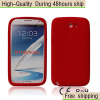 New Silicone Soft Rubber Cover Case For Samsung Galaxy Note II 2 N7100 Free Shipping UPS DHL EMS HKPAM CPAM SG-66