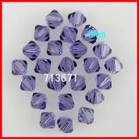 Free Shipping, 144pcs/Lot Chinese Top Tanzanite 8mm Crystal Bicone Beads