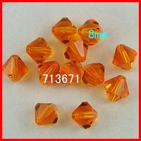 Free Shipping, 144pcs/Lot Chinese Top Orange 8mm Crystal Bicone Beads