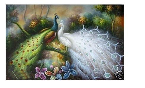pintura a óleo da arte dos artesanatos: Bonito do pavão